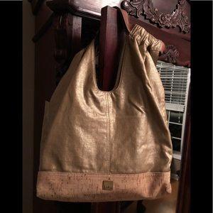 Kooba Gold Shimmer Shoulder Bag
